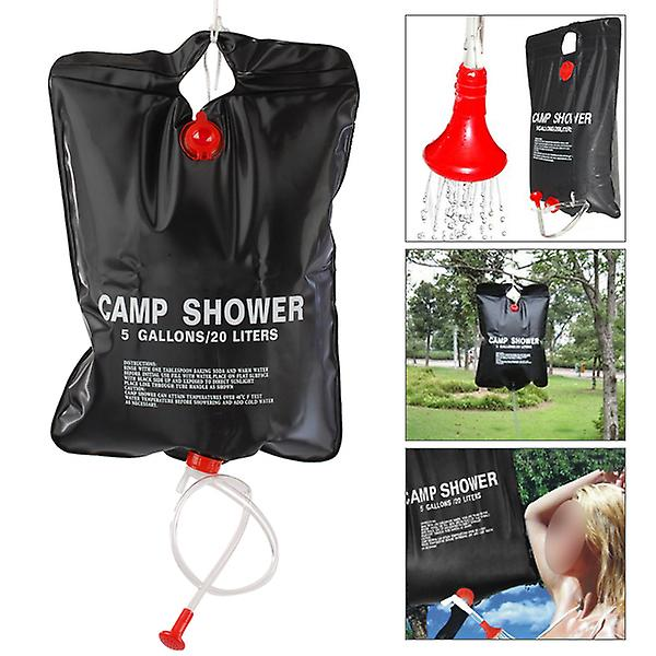 TRIXES 2 X 5 Gln Fishing Army Camp Solar Powered Camping Showers