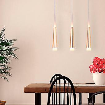 COMET 3 Mini Pendant Lighting Brass - LED Hanging Light Fixture for Kitchen Island, Bar, Foyer