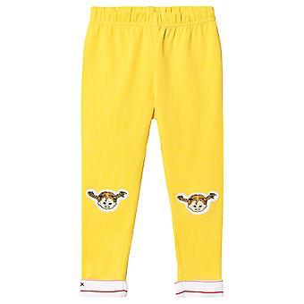 Pippi Pitkäsileää leggingsejä Pippi on polven keltainen