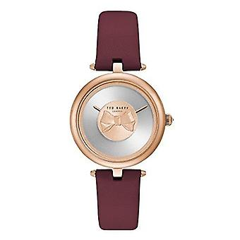 Ted Baker Andrea Purple Leather Strap Ladies Watch TE15199004