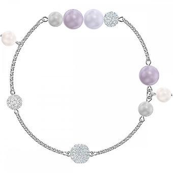Swarovski Remix Rhodium Plated With Crystal & Mixed Pearls Bracelet