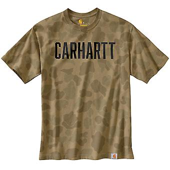 Carhartt Men's T-Shirt Workwear Camo Block Logo