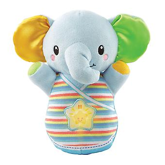 Vtech Toys Baby Snooze & Soothe Elephant Cuddly Soft Toy Includes 2 Songs and 30