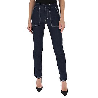 Chloé Chc20sdp01151476 Women's Blue Cotton Jeans