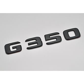 Matt Black G350 Flat Mercedes Benz Car Model Rear Boot Number Letter Sticker Decal Badge Emblem For G Wagen 460 461 463 AMG