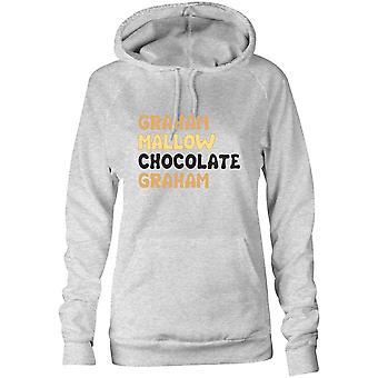 Moletom feminino Capuz Hoodie- Graham Mallow Chocolate Graham