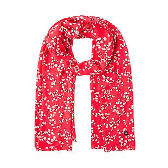 Joules Conway Womens Rectangle Scarf - Red Ditsy