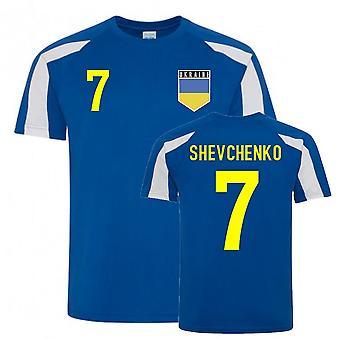 Andriy Shevchenko Ukraine Sports Training Jersey (Blå)