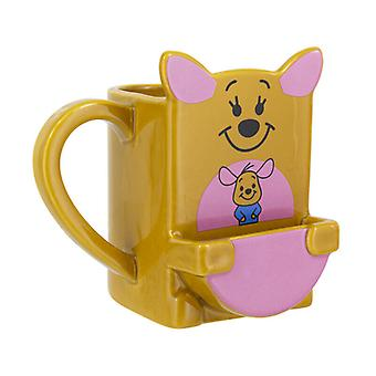 Kanga Cookie Pocket Mug With Biscuit Holder Novelty Coffee Tea Winnie Pooh