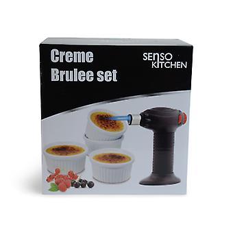 Creme Karamell Set 4 Schalen 1 Brenner