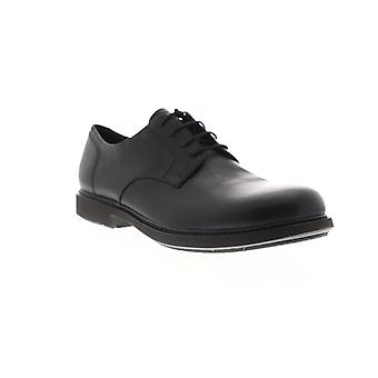 Camper Neuman  Mens Black Leather Casual Lace Up Oxfords Shoes