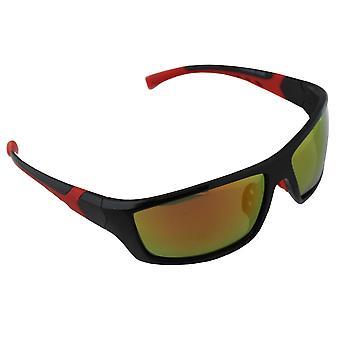 Zonnebril Heren en Zonnebrillen Dames Polaroid Sport - Rood/Geel met gratis brillenkokerS366_1