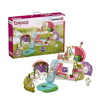 Schleich Balaya Glittering Flower House With Unicorns, Lake & Stable Playset