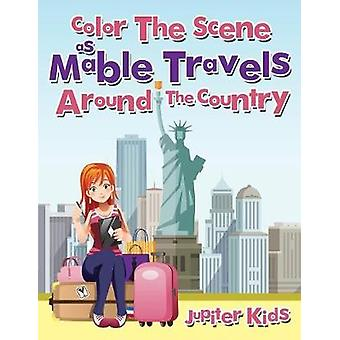 Color The Scene As Mable Travels Around The Country by Jupiter Kids