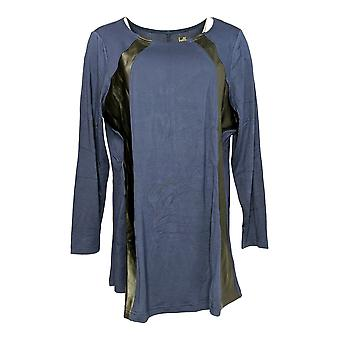 Belle by Kim Gravel Women's Top Curvallusion Tunic Blue A282718