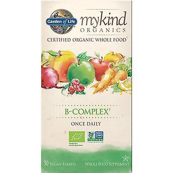 Garden Of Life Mykind Organics Vitamin B Complex Tablets 30 1239