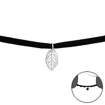 Leaf - 925 Sterling Ezüst + Bársony Chokers - W33987x