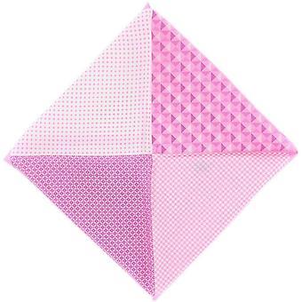 Eingewandt von London 4 Muster Seide Stecktuch - Pink
