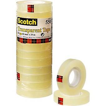 3M 550123 7100029310 Tape Scotch® 550 Transparente (L x W) 33 m x 12 mm 12 pc(s)