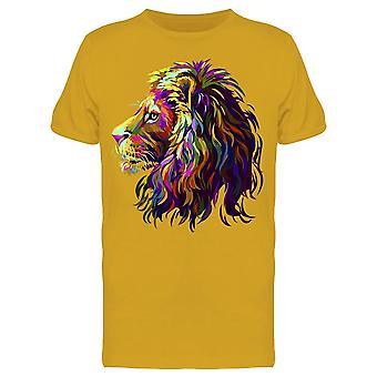 Abstract Lion Head Art Tee Men's -Image by Shutterstock