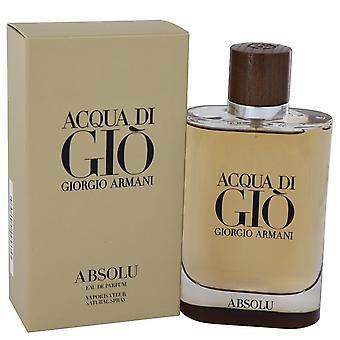 Acqua Di Gio Absolu Eau De Parfum Spray av Giorgio Armani 4.2 oz Eau De Parfum Spray