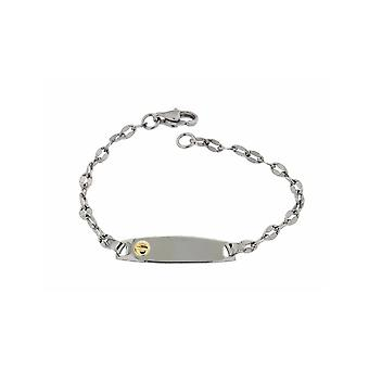 ZOPPINI Stainless Steel 18ct Gold ID Bracelet
