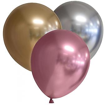 """9-pack Chrome - Gold, Silver and Pink - 30 cm (12"""")"""