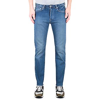 Edwin ED-80 CS Power Blue Denim Baltic Wash Slim Tapered Jeans