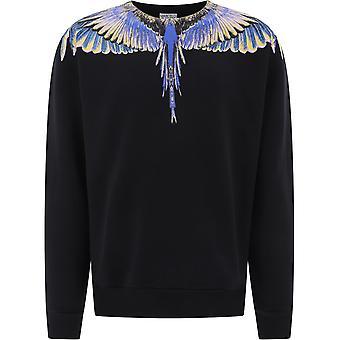 Marcelo Burlon Cmba009e20fle0011030 Men's Black Cotton Sweatshirt