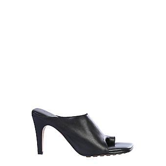 Bottega Veneta 618760vbso01000 Women's Black Leather Slippers