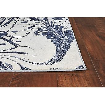 3' x 5' Blue Abstract Splashes Area Rug