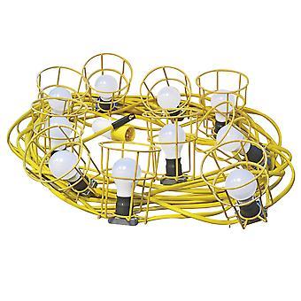 Faithfull Power Plus Festoon Lichter 22m 10 Glühbirnen 110 Volt FPPSLFESTOON
