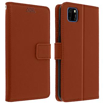 Huawei Y5p Folio Case with Video support - Brown