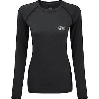 North Ridge Women's Resistance Long Sleeve Baselayer Dark Grey