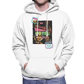 Route 66 Neon Motel poster mannen Hooded Sweatshirt