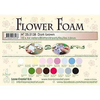 Leane Creatief Hojas de Espuma Flor A4 Marrón Oscuro