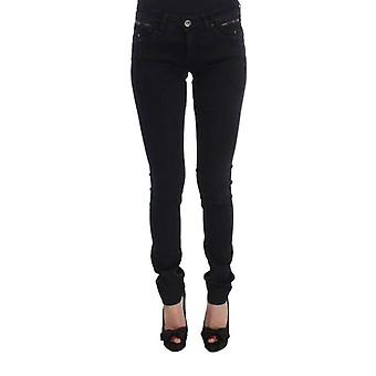 Siyah Pamuk Slim Fit Denim Kot Pantolon - SIG3473029