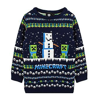 Minecraft Jumper Boys & Girls Creeper Knitted Long Sleeve Kids Christmas Sweater