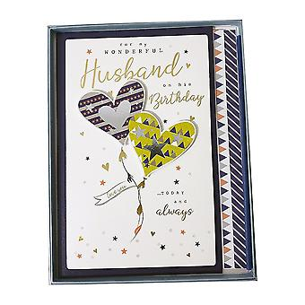 ICG Ltd For My Wonderful Husband On His Birthday Boxed Large Card