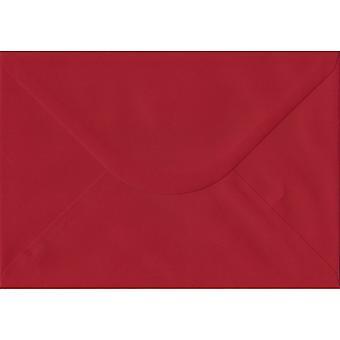 Scarlet Red gummierede C5/A5 farvet røde konvolutter. 100gsm FSC bæredygtig papir. 162 mm x 229 mm. bankmand stil kuvert.