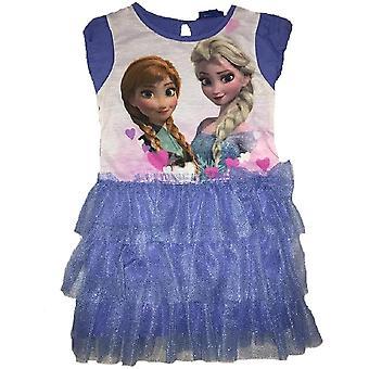 Chicas de Disney congelado Vestido de manga corta de lujo