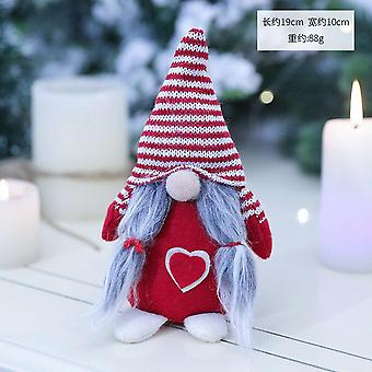 Merry Christmas Long Hat Swedish Santa Gnome Angle Plush Toys- Doll Drop Ornament Xmas Tree Decor Kids Xmas Gift
