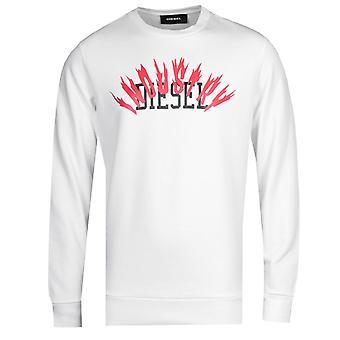 Diesel S-Gir A1 Felpa White Sweatshirt