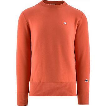 Champion Orange Crew Neck Sweatshirt