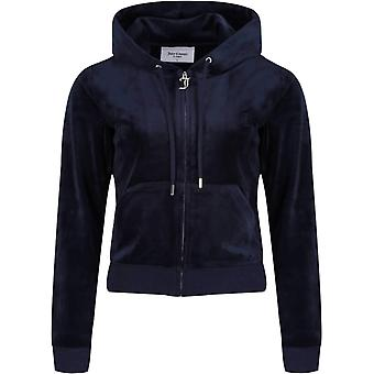 Juicy Couture Robertson Velour Zip Edessä Huppari Navy 09