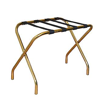 Folding Metal Luggage Rack Suitcase Stand - Gold