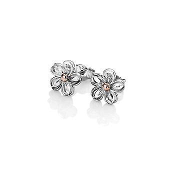 Hete diamanten sterling zilver Vergeet me niet oorbellen DE618