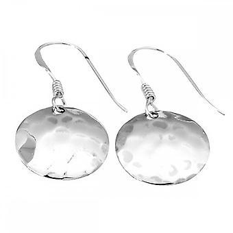 Beginnings Sterling Silver E2517 Small Hammered Disc Hook Earrings