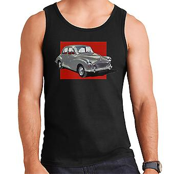 Morris Minor Red Background British Motor Heritage Men's Vest