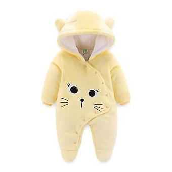 Newborn Clothes Fleece Baby Jumpsuit Soft Clothes Snow Coats For Babies White Warm Coat